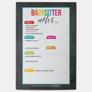 Babysitter-Post-Itanmerkungs-Notizblock für Eltern Post-it Haftnotiz