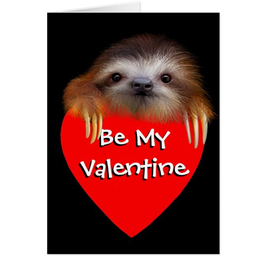 BabySloth ließ uns Valentine-Karte heraus hängen Grußkarte