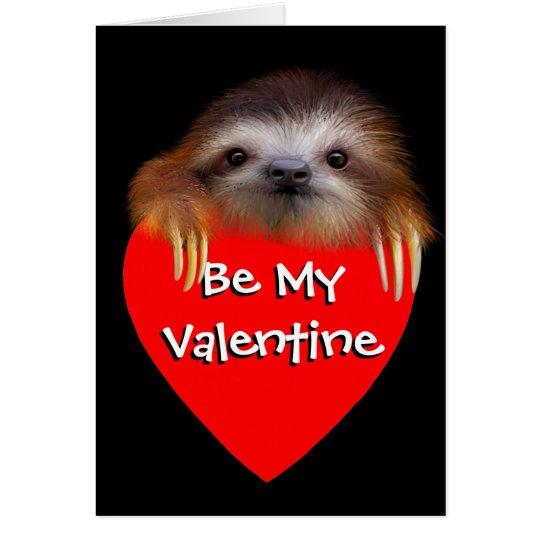 BabySloth ließ uns Valentine-Karte heraus hängen Karte