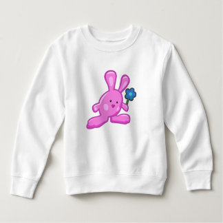 BabySweatshirt - rosa Kaninchen Sweatshirt