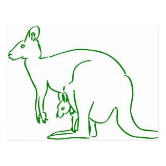 Babytierspaß-Freude des Kängurus glückliches Postkarte
