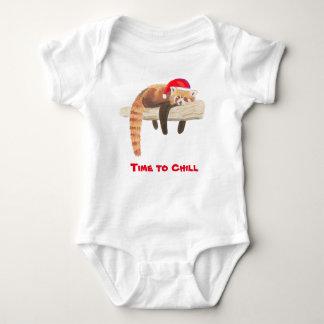 Babyweste des Weihnachtsroten Pandas Baby Strampler