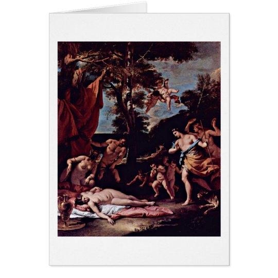 Bacchus und Ariadne durch Sebastiano Ricci Grußkarte