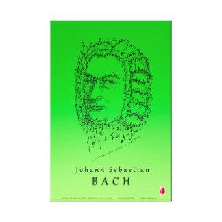 Bach stellen die Musik gegenüber Leinwanddruck