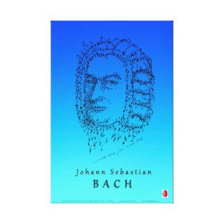 Bach: Stellen Sie die Musik gegenüber Leinwanddruck