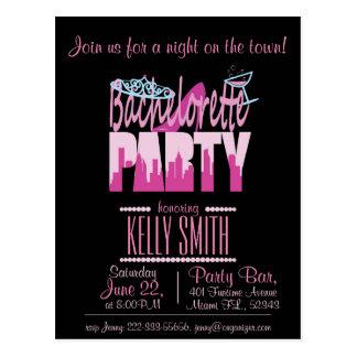 Bachelorette partydesign postkarte