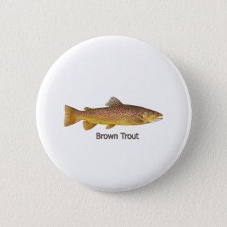 Bachforelle (betitelt) runder button 5,1 cm