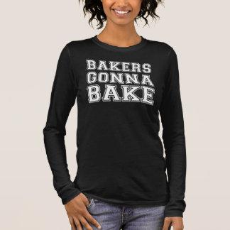 Bäcker, die gehen zu backen langarm T-Shirt