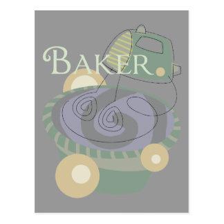 Bäcker Postkarte