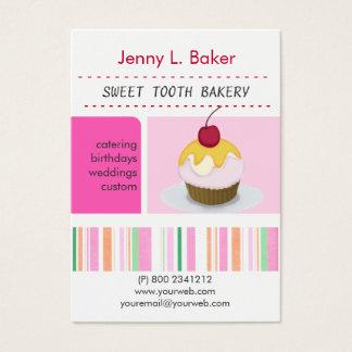 Bäckerei backt Kuchen-herrliches personalisiertes Visitenkarte