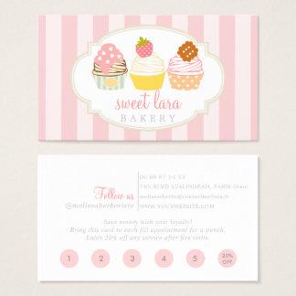 Bäckerei-Café-Retro süße Kuchen-niedliche Visitenkarte
