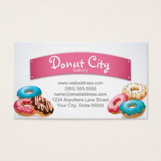 Bäckerei-Krapfen-Visitenkarte-Entwurfs-Schablone Visitenkarte