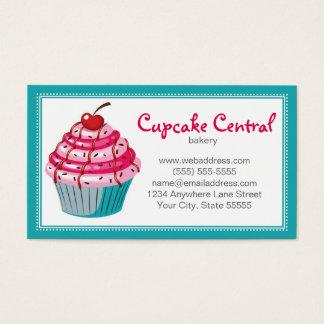 Bäckerei-Kuchen-Visitenkarte-Entwurfs-Schablone Visitenkarte