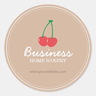Bäckerei-niedliches süße Kirschbacken Runder Aufkleber