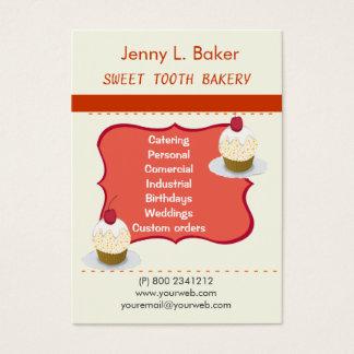 Bäckerei-selbst gemachte kleine Kuchen u. Visitenkarte