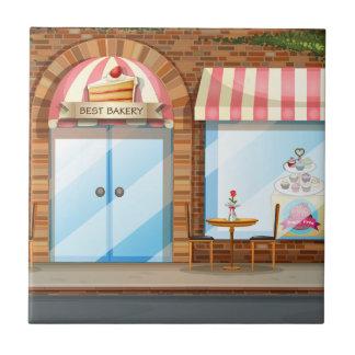 Bäckereigeschäft Keramikfliese