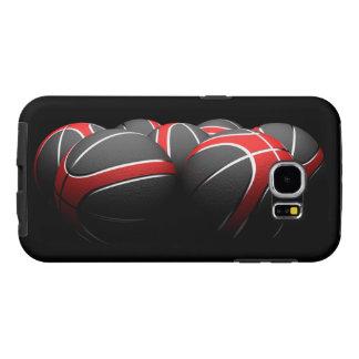 background of modern basketball balls