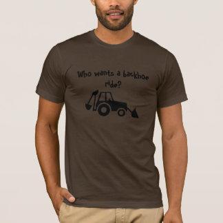 backhoe_lrg, wer will eine Löffelbaggerfahrt? T-Shirt