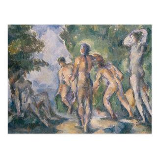 Badegäste an der Erholung durch Paul Cezanne Postkarte