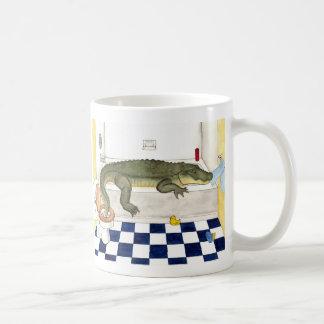 Badewannen-Alligator Kaffeetasse