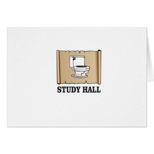 Badezimmer-Stillbeschäftigungsstunde Grußkarte