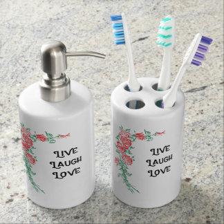 Badezimmerzahnbürstehalter-Setlivelachen-Liebe Badset