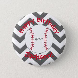 Badge Rond 5 Cm Chevron, anniversaire de Special de bouton