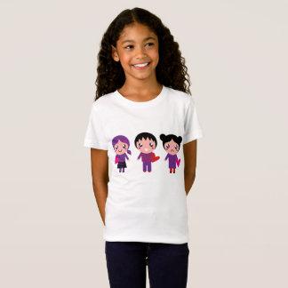 Badine le T-shirt blanc avec des enfants d'Emo