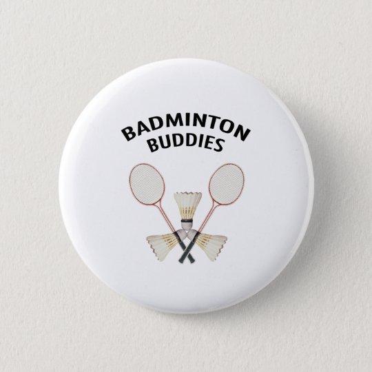 Badminton-Freunde Runder Button 5,1 Cm