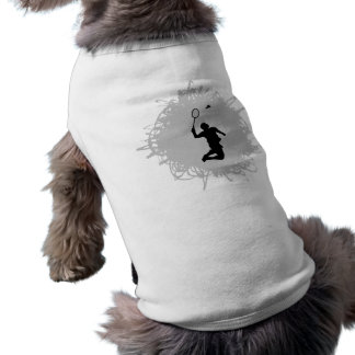 Badminton-Gekritzel-Art T-Shirt