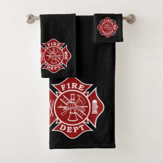 Badtuch-Sets mit Malteserkreuze des Feuerwehrmanns Badhandtuch Set