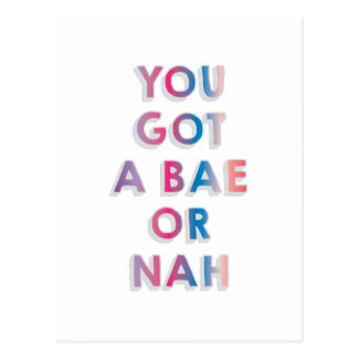 Bae oder Nah Postkarte
