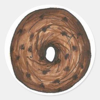 Bagel-Frühstücksnahrung des Zimt-Rosinen-Bagel-NYC Runder Aufkleber