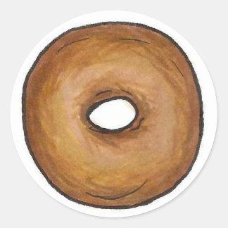 Bagel-Nahrung einfacher Bagel-klassische New York Runder Aufkleber
