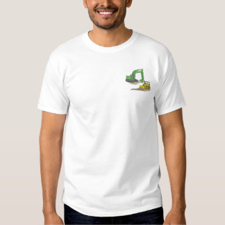 Bagger und Bulldozer Besticktes T-Shirt