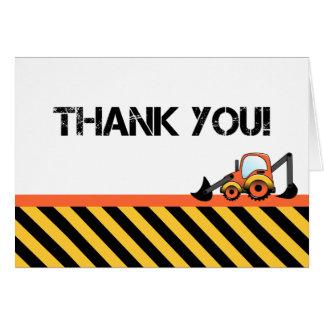 Baggerbau dankt Ihnen Karten