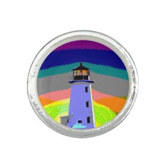 Bagues Avec Photo Anneau de la Nouvelle-Écosse d'itinéraire de phare
