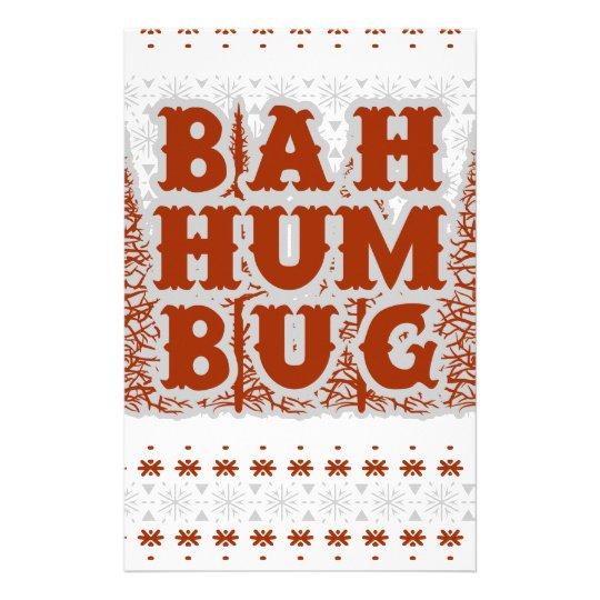 BAH HUMBUG - hässliches Weihnachten Briefpapier