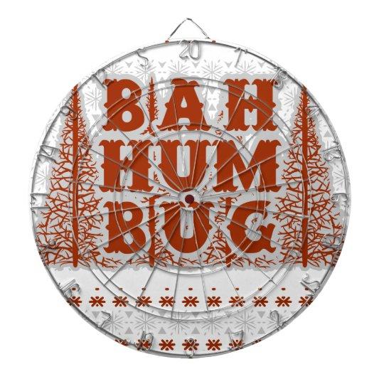 BAH HUMBUG - hässliches Weihnachten Dartscheibe
