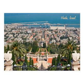 Bahá'í Gärten von Haifa, Israel Postkarte