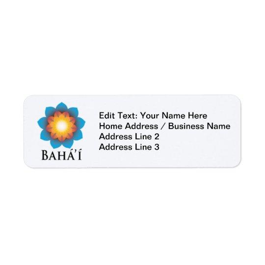 Bahá'í Rückversand-Adressaufkleber