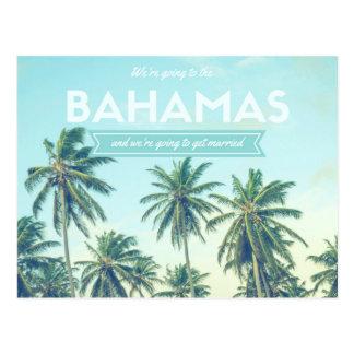 Bahamas, die tropischen Strand Wedding sind, Postkarte