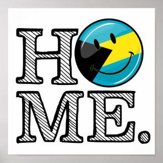 Bahamas ist Zuhause-lächelnder Flaggen-Haus-Wärmer Poster
