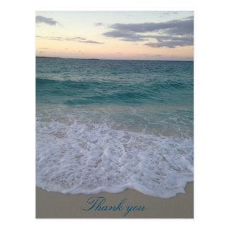 Bahamas-Sonnenuntergang danken Ihnen Postkarte
