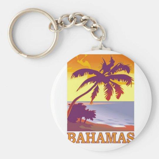 Bahamas Standard Runder Schlüsselanhänger
