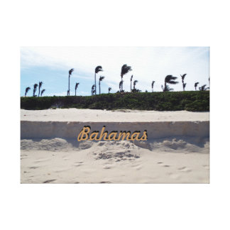 Bahamas-Strand Leinwanddruck