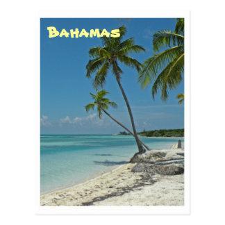 Bahamas-Strand-Postkarte Postkarte