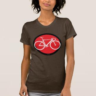 Bahn-Fahrrad - roter Punkt T Shirts