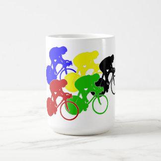 Bahn-radfahrenRadrennen-Fahrrad-Reiter Kaffeetasse
