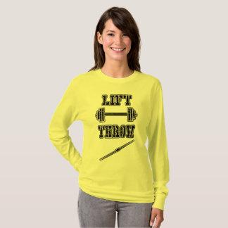 Bahn-und Feld-Speer-Spritzring-langes Hülsen-Shirt T-Shirt